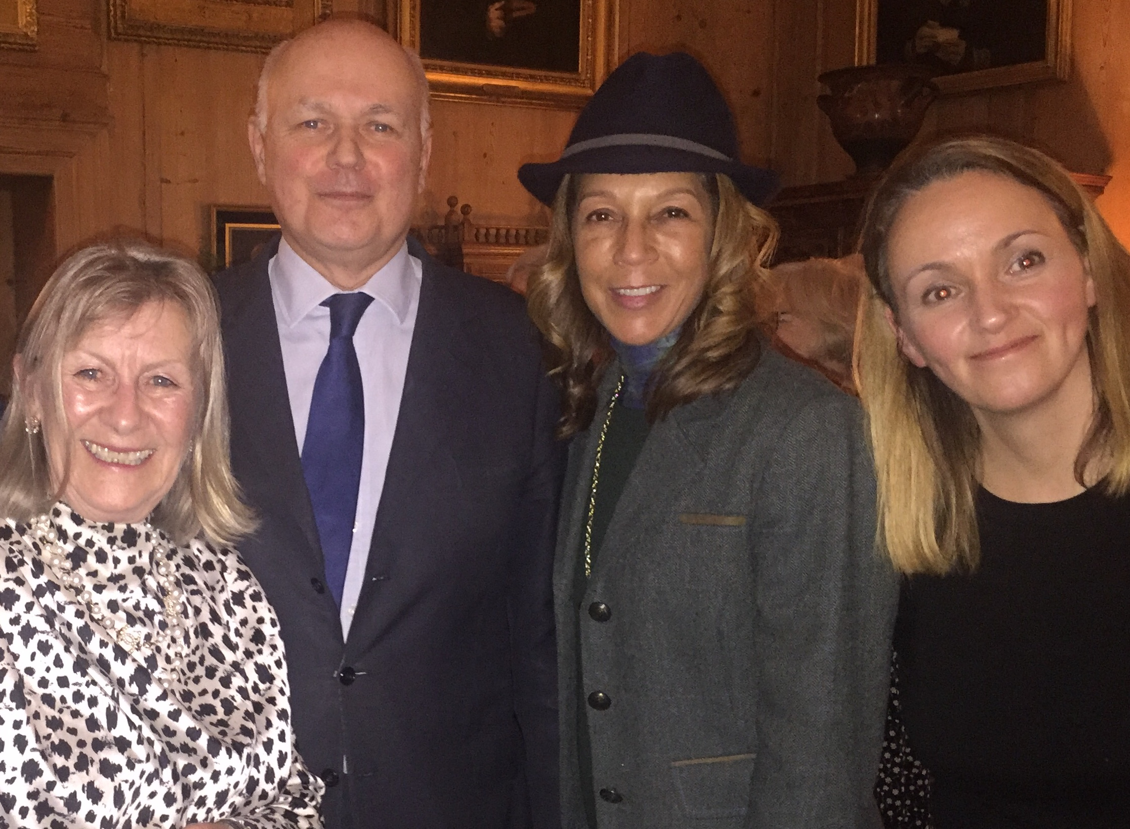 Sir Iain with Helen Grant MP, Andrea Thorpe (MWCA Chairman) and Louise Brice (DC Fundraising and Membership)